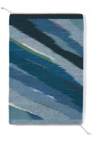 Regina Design Blue Wave handwoven wool rug