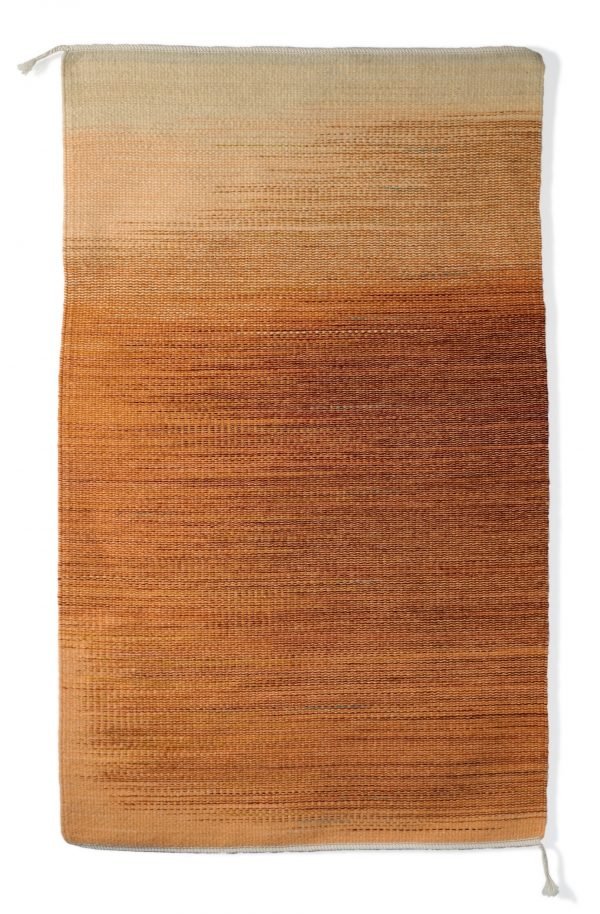 Regina Design Pumpkin handwoven wool rug