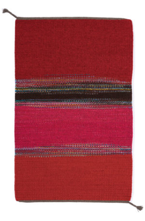 Regina Design Static Reds 2 handwoven wool rug.