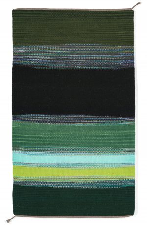 Regina Design Static Greens handwoven wool rug
